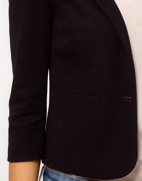Image 3 ofASOS Cropped Blazer In Ponte