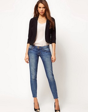 Image 4 ofASOS Cropped Blazer In Ponte