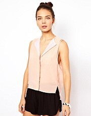 Pippa Lynn Blouse With Mesh Trim
