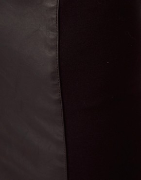 Image 3 ofRiver Island Leather Look Panel Pencil Skirt