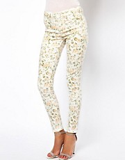 Oasis Washed Floral Print Jean