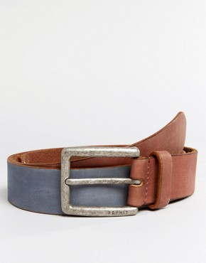Esprit Belt Nubuck Leather