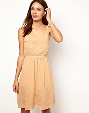 Warehouse Applique Lace Insert Dress