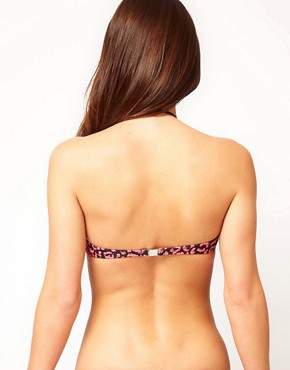 Image 2 ofPaul Smith Halter Bandeau Bikini Top With  Leopard Print