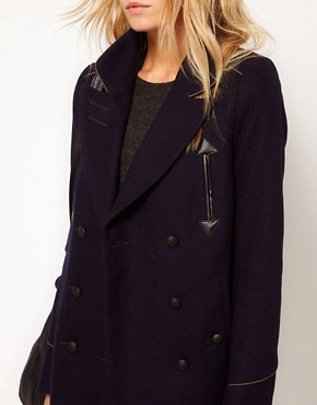 Image 3 ofASOS Military Pea Coat