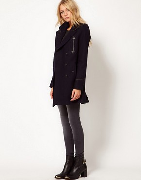 Image 4 ofASOS Military Pea Coat