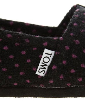 Image 2 of TOMS Purple Dot Flat Shoes