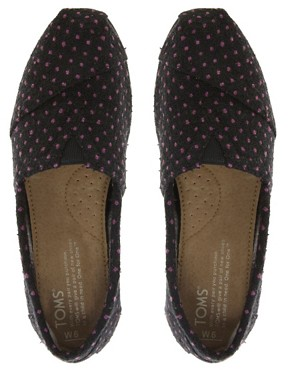 Image 3 of TOMS Purple Dot Flat Shoes