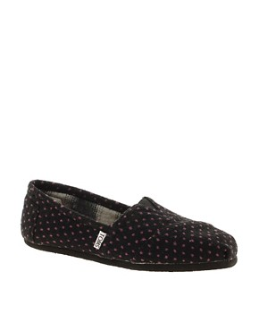 Image 1 of TOMS Purple Dot Flat Shoes