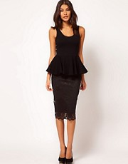ASOS Pencil Skirt in Lace in Longer Length