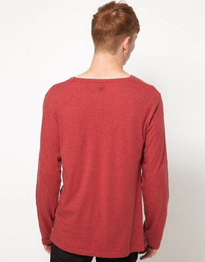 Image 2 ofInsight Long Sleeve Top With Grandad Collar