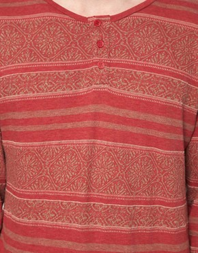 Image 3 ofInsight Long Sleeve Top With Grandad Collar