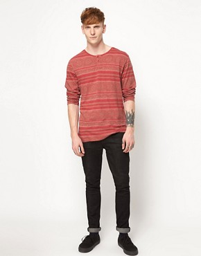 Image 4 ofInsight Long Sleeve Top With Grandad Collar