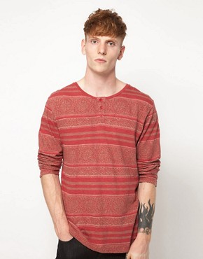Image 1 ofInsight Long Sleeve Top With Grandad Collar