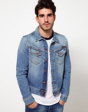 Image 1 ofNudie Denim Jacket Conny Light Wash