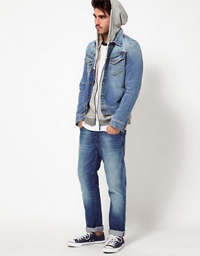 Image 4 ofNudie Denim Jacket Conny Light Wash