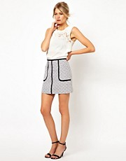 Oasis Jacquard Mini Skirt