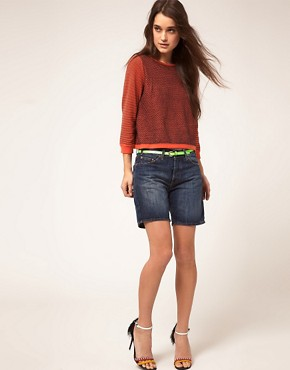 Image 1 ofBA&amp;SH Denim Boyfriend Shorts