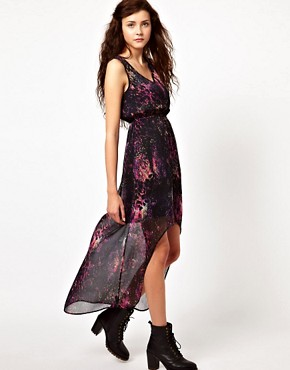 Image 4 ofVero Moda Printed Hi Lo Dress
