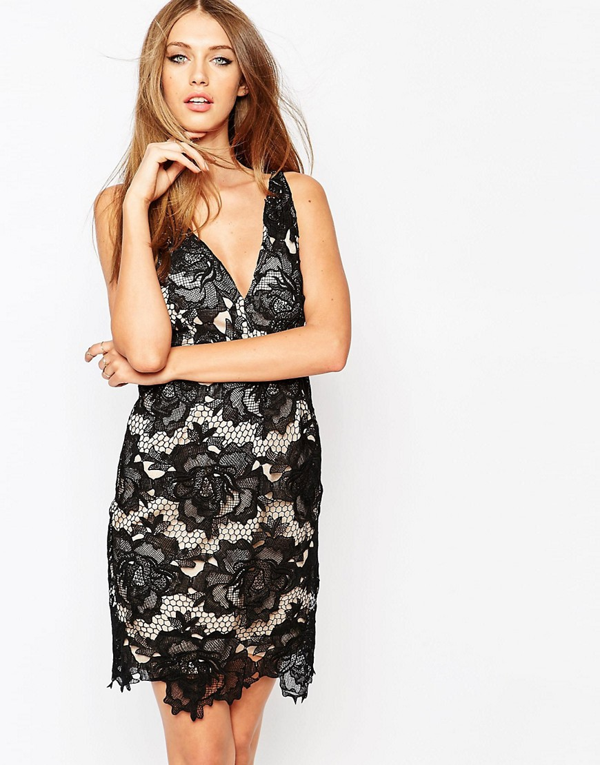 Missguided Lace Body-Conscious Dress With Low Back - Black