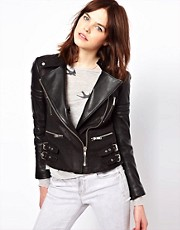 Chaqueta biker de cuero de Zoe Karssen