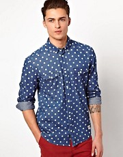 Suit Denim Shirt With Spots