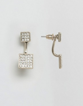 Oasis Pave Square Through & Through Earrings