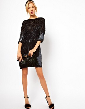 Image 4 ofASOS Shift Dress With Baroque Beading