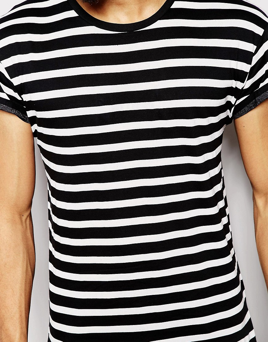 new look new look breton stripe t shirt at asos. Black Bedroom Furniture Sets. Home Design Ideas