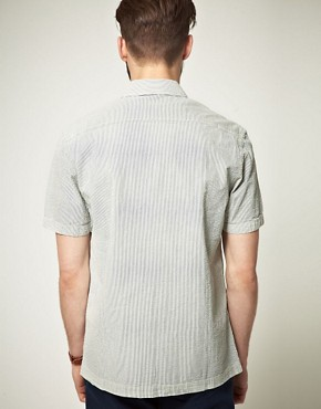 Image 2 ofASOS Short Sleeve Stripe Shirt