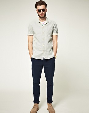 Image 4 ofASOS Short Sleeve Stripe Shirt
