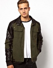 Barneys Originals Contrast Jacket