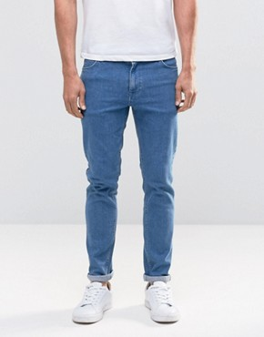ASOS Skinny Jeans In Retro Blue Wash
