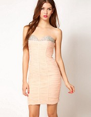Forever Unique Bandeau Dress With Embellishment