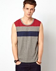 ASOS Stripe Sleevless T-Shirt