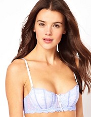 Elle Macpherson Dentelle Blue Balconette Contour Bra