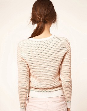 Image 2 of Jonathan Saunders Sweater Oval Knit