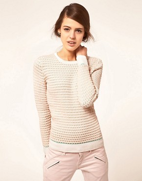 Image 1 of Jonathan Saunders Sweater Oval Knit