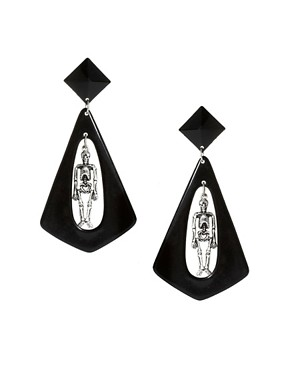 Image 1 ofASOS Skeleton Doorknocker Earrings