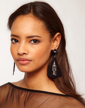 Image 2 ofASOS Skeleton Doorknocker Earrings
