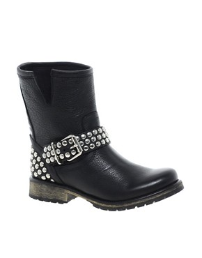 Image 1 ofSteve Madden Fraankie Stud Biker Boots