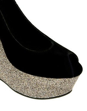 Image 3 ofLondon Rebel Contrast Glitter Wedge Shoe