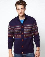 Selected Fairisle Cardigan