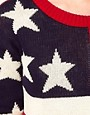 Image 3 of Hearts & Bows Cotton Knit American Flag Knit Sweater