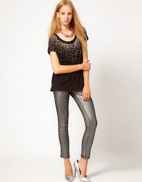 Image 4 ofSass &amp; Bide Three Words Stretchy Metallic Jeans