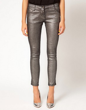 Image 1 ofSass &amp; Bide Three Words Stretchy Metallic Jeans