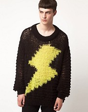 Horace Jumper with Lightning Bolt Print