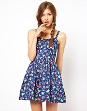 Aimée by People Tree Organic Cotton Vintage Floral Sweetheart Skater Dress