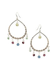 Pilgrim Statement Jewelled Hoop Gypsy Earring