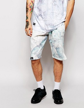 Ichiban Neoprene Shorts In Mountain Map Print